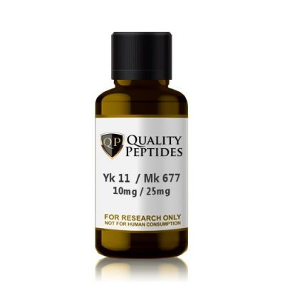 Yk 11 10mg Mk 677 25mg Quality Peptides Research Chemicals